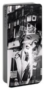 Photograph Of Marilyn Portable Battery Charger by Charles Stuart