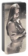 Photograph Vintage Summer Look With Woman In Bikini #8624m Portable Battery Charger