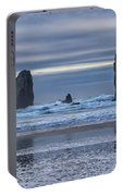 Photographer At Cannon Beach Portable Battery Charger