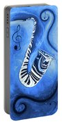 Piano Keys In A Saxophone Blue - Music In Motion Portable Battery Charger