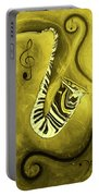 Piano Keys In A  Saxophone Golden - Music In Motion Portable Battery Charger
