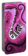 Piano Keys In A Saxophone Hot Pink - Music In Motion Portable Battery Charger