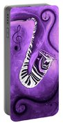 Piano Keys In A Saxophone Purple - Music In Motion Portable Battery Charger