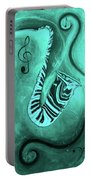 Piano Keys In A  Saxophone Teal Music In Motion Portable Battery Charger