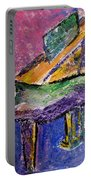 Piano Purple - Cropped Portable Battery Charger