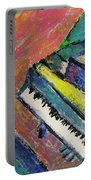 Piano With Yellow Portable Battery Charger by Anita Burgermeister