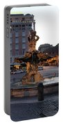 Piazza At Night Portable Battery Charger