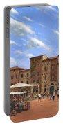Piazza Della Cisterna San Gimignano Tuscany Portable Battery Charger