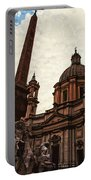 Piazza Navona At Sunset, Rome Portable Battery Charger
