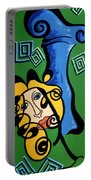 Picasso Influence With A Greek Twist Portable Battery Charger