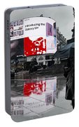 Piccadilly In The Rain Portable Battery Charger