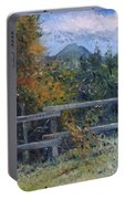 Picket Fence Near Heidelberg Western Cape South Africa Portable Battery Charger
