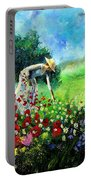 Picking Flower Portable Battery Charger