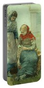 Picking Flowers Portable Battery Charger by Winslow Homer
