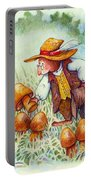 Picking Mushrooms Portable Battery Charger