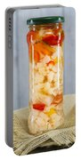 Pickled Vegetables In Clear Glass Jar Portable Battery Charger
