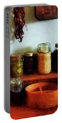 Pickles Beans And Jellies Portable Battery Charger by Susan Savad