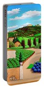 Picnic In Tuscany Portable Battery Charger