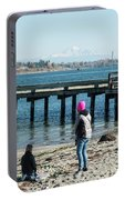Picnic On Semiahmoo Beach Portable Battery Charger