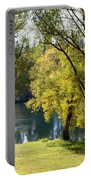 Picnic Spot On Spokane River Portable Battery Charger