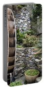 Pictueresque Waterwheel In Cinqueterre Garden Portable Battery Charger