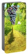 Picturesque Vineyard At Sunset Portable Battery Charger