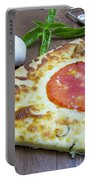 Piece Of Margarita Pizza With Ingredients Portable Battery Charger