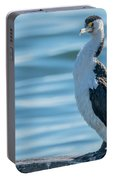 Pied Cormorant On Old Wharf Portable Battery Charger