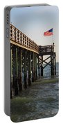 Pier, Flag, Fishing Portable Battery Charger
