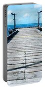 Pier Into The Blue Portable Battery Charger