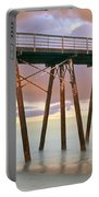 Pier On Beach During Sunrise, Playas De Portable Battery Charger