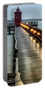 Pier With Lighthouse Portable Battery Charger