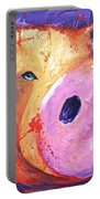 Pig On Purple I Portable Battery Charger
