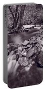 Pigeon Forge River Great Smoky Mountains Bw Portable Battery Charger