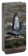 Pigeon With Its Wings Up Portable Battery Charger