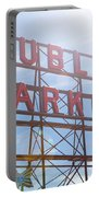 Pike Place Public Market Sign Portable Battery Charger
