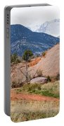 Pikes Peak From Red Rock Canyon Portable Battery Charger