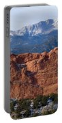 Pikes Peak Over The Garden Portable Battery Charger
