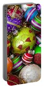 Pile Of Beautiful Ornaments Portable Battery Charger