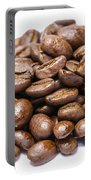Pile Of Coffee Beans Isolated On White Portable Battery Charger