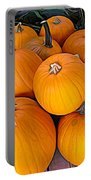 Pile Of Pumpkins For Sale Expressionist Effect Portable Battery Charger