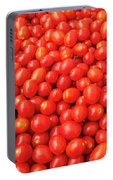 Pile Of Small Tomatos For Sale In Market Portable Battery Charger