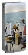 Pilgrims Washing Day, 1620 Portable Battery Charger