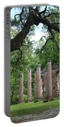 Pillars Of Sheldon Church Ruins Portable Battery Charger