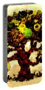 Pinatamiche Tree Painting In Crackle Paint Portable Battery Charger