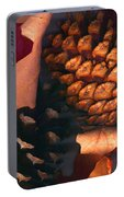 Pine Cones And Leaves Portable Battery Charger