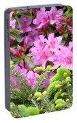 Pine Conifer Pink Azaleas 30 Summer Azalea Flowers Giclee Art Prints Baslee Troutman Portable Battery Charger