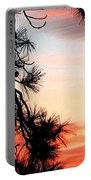 Pine Tree Silhouette Portable Battery Charger