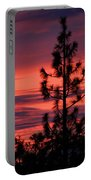 Pine Tree Sunrise Portable Battery Charger