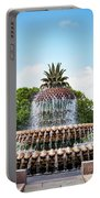 Pineapple Fountain In Charleston South Carolina Portable Battery Charger